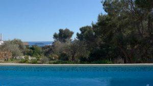 extérieur villa de charme piscine sécurisée vue La Ciotat